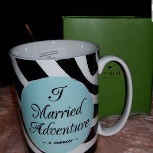 2 KATE SPADE LENOX I Married Adventure mugs. NIB